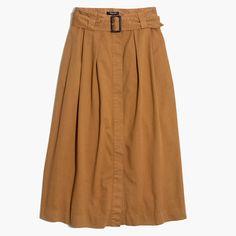 Trench Midi Skirt