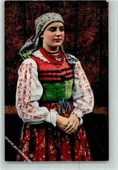 Trachten Osteuropa Nr. 366  Verlag A.J.O. Frau aus Polen AK