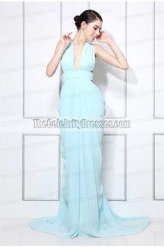 Miranda kerr blue party dress