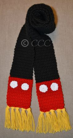 Mickey Mouse Inspired Disney Scarf by coschie on Etsy