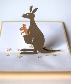 Kangaroo Pop Up Mother's Day Card