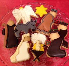 Nativity, Christmas Eve, cookie cut out