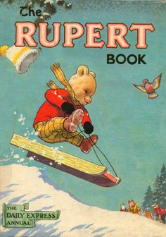 What better way to start an advent calendar of annuals than with one of the longest running - the Rupert Book! The first Rupert annual appeared way back in Vintage Children's Books, Children's Book Illustration, Book Illustrations, Children's Literature, Childhood Memories, Childhood Toys, Childrens Books, Book Art, My Books