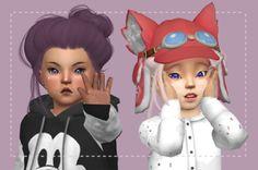 Toddler Dandelion Hair for The Sims 4