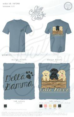 Delta Gamma   DG   Puppy Theme   Sorority Dogs   South by Sea   Greek Tee Shirts   Greek Tank Tops   Custom Apparel Design   Custom Greek Apparel   Sorority Tee Shirts   Sorority Tanks   Sorority Shirt Designs