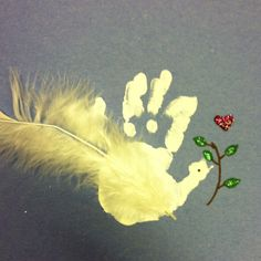 Dove hand print craft.