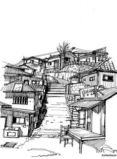 Join buildyful.com - the global place for architecture students.~~Architectural Sketches - Pen drawing