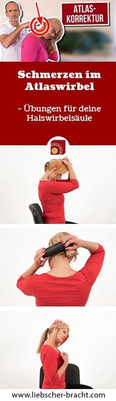 Hast du auch Probleme mit deinem Atlaswirbel? Ist der erste Halswirbel aus dem Lot, kann das Auswirkungen auf den ganzen Körper haben. Wir zeigen dir, wie du mit Dehnübungen und einer Faszien-Rollmassage deine Muskeln entspannen und den Wirbel besänftigen kannst. #faszientraining #faszienrolle #blackroll #nacken #halswirbelsäule #rücken