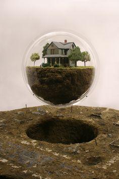 Thomas Doyles Apocalyptic Dioramas sculpture models miniature apocalypse