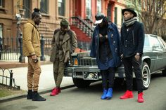 STREET ETIQUETTE   Pops of color for Fall NYC menswear