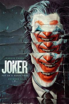 Joker 2019 Movie Poster Put A Happy Face DC Comics Joaquin image 1 Joker Poster, Movie Poster Art, Poster Design Movie, Fan Poster, Best Movie Posters, Poster Designs, Art Posters, Joaquin Phoenix, Art Du Joker