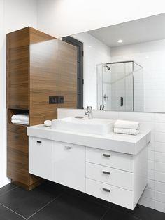 Excite Your Visitors with These 14 Adorable Half-Bathroom Styles Bathroom Design Luxury, Modern Bathroom Decor, Modern Bathroom Design, Bathroom Styling, White Bathroom, Bathroom Ideas, Scandinavian Bathroom, Bathroom Wall Cabinets, Bathroom Renos