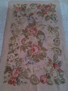 vintage needlepoint rug