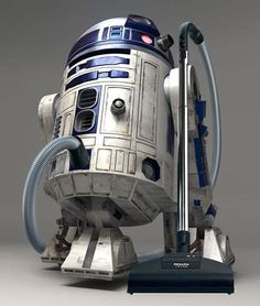Miele unveils the R2D2 cleaning droid and Jedi accomplice (HEPA filtration and lightsaber storage included), as conceived by Agent-Spiff.