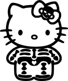 Hello Kitty skeleton sticker :)