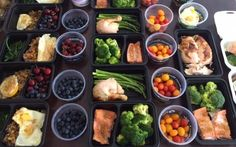 Ideas, tips and testimonials from @tatted_happon. A perfect example of how  meal prep can save you time and money, and allow you to reach your goals.  Breakfast:      * Ground Turkey cooked with bell peppers, onions, and mushrooms       seasoned with seasoning; one-two cooked eggs, and fruits on high-carb       days.  Lunch/Dinner:      * Baked Salmon 4oz and Roasted Chicken 5oz. On the sides, I steam       broccolis and asparagus.  Snack #1:      * Fat free Greek yogurt with fruits…