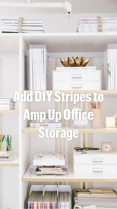 Home Office Organization, Office Storage, Desk Office, Overhead Storage Rack, Diy Wall Decor, Home Decor, Decorating Small Spaces, Home Hacks, Bedroom Wall