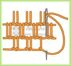 El festón es uno de los puntos más útiles y se utiliza tanto para bordados como para remates de bordes sin dobladillo. Se trabaja de izquierda a derecha, formando hileras de pequeñas puntadas enlaz…