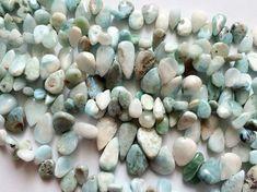Larimar Beads Larimar Plain Pear Beads Larimar by gemsforjewels