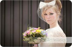 Annie Bow birdcage veil by nicolawellard on Etsy, £125.00