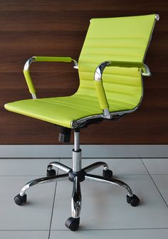 Lime Green Designer Eames Style Design Computer Contemporary Reception Meeting…