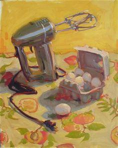 """Egg Beaters""  20x16  Oil by Jennifer Diehl"