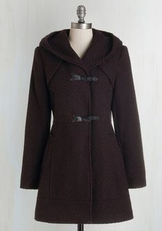 Guten Toggle Coat - Better, Red, Solid, Pockets, Long Sleeve, Winter, Long, Fall, 3, Tis the Season Sale