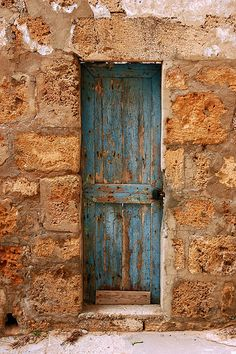 The Skinny Blue Door, Batroun - Lebanon via M. Khatib on Flickr