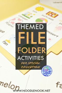 File Folder Activities for Special Ed and Autism Classrooms to target visual discrimination, matching, and behavioral compliance. all themed for each month of the school year! File Folder Activities, Autism Classroom, Special Education Teacher, Behavior, Target, The Unit, Student, Teaching, School