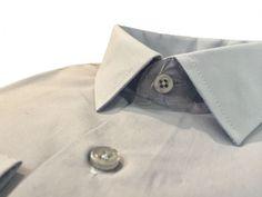 Купить Мужская рубашка серого цвета однотонная в интернет магазине мужской одежды OTOKODESIGN