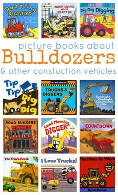 Awesome book list ! Heading to the library to get some more books about construction vehicles.