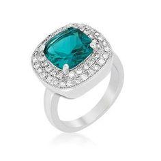 Aqua Bridal Cocktail Ring