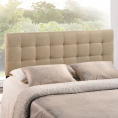 27 best Most Popular Headboards images on Pinterest   Upholstered     Lily Queen Fabric Headboard in Beige