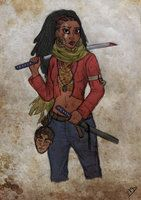 The Walking Disney : Tiana by Kasami-Sensei Walking Dead Killers series by DA Artist