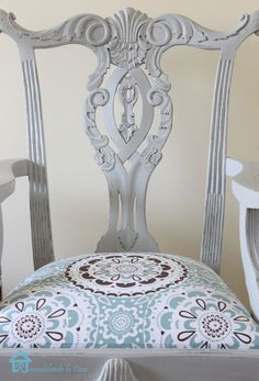 Chippendale Chair painted with chalk paint, pretty pretty