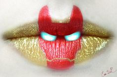 Iron Man Lip Art by Chuchy5.deviantart.com on @deviantART