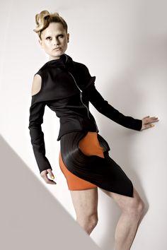 Photography: Mike Nicolaassen  Model: Macha at Fresh Model Management  Hair styling: Tommy Hagen at House of Orange  Make-up: Vera Dierckx at House of Orange  Styling: April Jumelet  Shoe design: Anna Korshun  Jewelry: NAT art & Jewelry