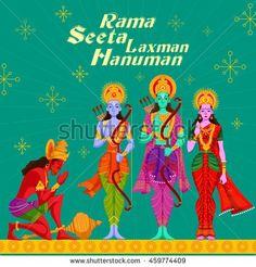 Image result for Sita Hanuman Illustration