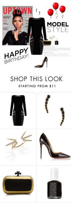 """""""Happy Birthday Janelle Monae"""" by phillipst622 ❤ liked on Polyvore featuring Kate Spade, Jacquie Aiche, Christian Louboutin, Bottega Veneta and Essie"""
