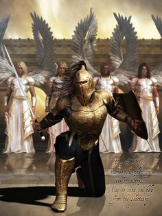 How to Put on the Armor of God. In the book of Ephesians, the apostle Paul creates a powerful metaphor for how your faith can help protect you from spiritual attack. Spiritual attacks might be things like the temptation to sin, doubting. Christian Warrior, Christian Art, Spurgeon Quotes, Templer, Ange Demon, Prophetic Art, Prayer Warrior, Warrior Angel, Warrior Princess