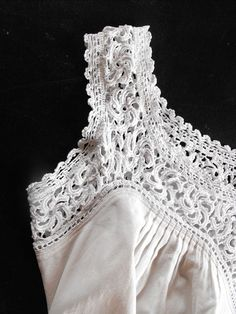 French Vintage Lace Nightgown