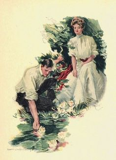 Christy, Howard Chandler (b,1873)- American Girl - 'Water Lilies', 1906