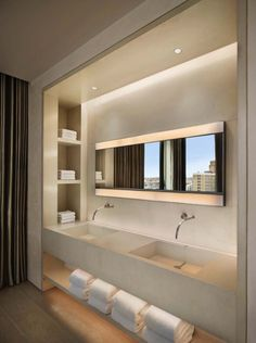Bond Street Residence – contemporary – bathroom – new york – ConcreteWor. - Bond Street Residence – contemporary – bathroom – new york – ConcreteWorks East - Modern Contemporary Bathrooms, Modern Bathroom Design, Bathroom Interior Design, Bath Design, Contemporary Interior, Luxury Interior, Modern Design, Contemporary Stairs, Contemporary Vanity