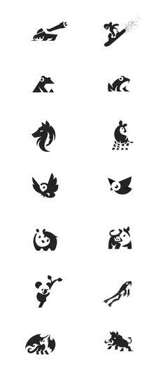 This is my 4'th negative space logo project. See more on my web. #negativespace #negative #kreatank #space #logo #design #creative #graphic #designer #graphicdesigner #brand #identity #illustration #animals #owl #pig #hog #boar #snowboarder #tank #hippo #frog #bird #okapi #wolf #face #dragon #banana