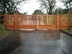 like this split fence, idea but reverse it. Full fence 3/4 way up and open vertical slats at top