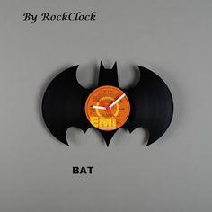 Relógio de vinil do batman.
