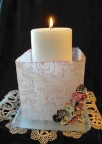 Create a fun and inexpensive candle holder for Mother's Day or as a decoration in your home!