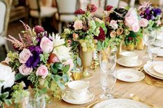 Perfect for a vineyard wedding, mix a few bunches of green grapes into your floral centerpiece.
