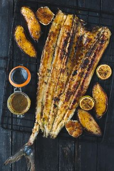 healthy fish recipes - braaied-whole-snoek-apricot-basting Braai Recipes, Barbecue Recipes, Fish Recipes, Vegan Recipes, Cooking Recipes, Recipies, West African Food, South African Recipes, Bread And Butter Pudding