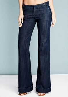 Revolt Side Button Trouser Jean